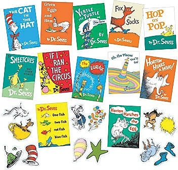 Eureka Bulletin Board Set, Dr. Seuss Books (EU-847041)