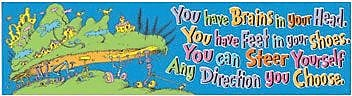 Eureka Dr. Seuss Pre-School to 6th Grade Colorful Classroom Banner, Oh The Places You''ll Go (EU-849616)