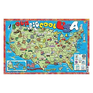 Gallopade Our Big Cool USA Poster Map (GALUSPPOS)