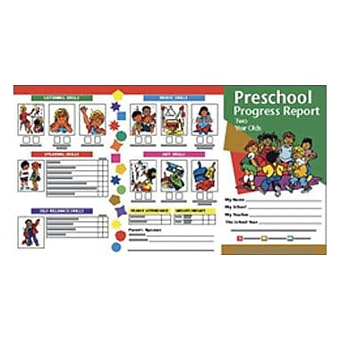 Hayes® Preschool Progress Report Card, 2 Years, 10/Pack (H-PRC0)