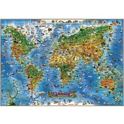 Round World Products Animals Of The World Map, Grade All (RWPDM002)