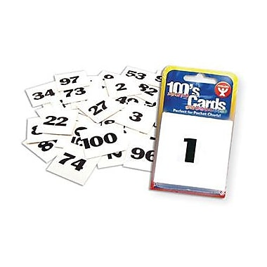 Hygloss Number Flash Card, 1-100, Grades Kindergarten - 7th, 600/Pack (HYG61491)