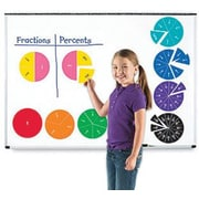 Learning Resources - Cercles de fractions à deux côtés aimantés
