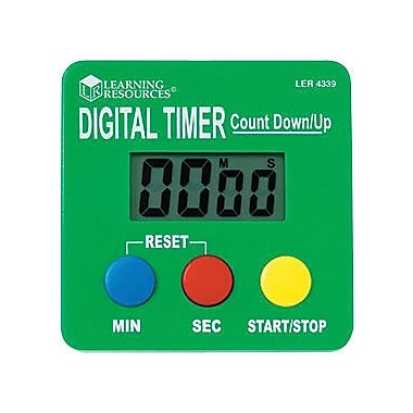 Learning Resources LER4339 Digital Timer, Green, 2/Pack (LER4339)