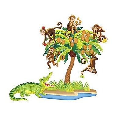 Little Folk Visuals Pre-Cut Flannels, Five Monkeys Sitting In A Tree, 7/Set (LFV22704)