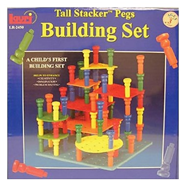 Lauri® Toys Tall Stacker Pegs And Building Set