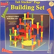 Lauri Toys Tall Stacker Pegs Building Set, 118/Set (LR-2450)
