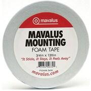 """Mavalus MAVFOAM3410 0.75"""" x 120"""" Double-Sided Foam Tape, White"""