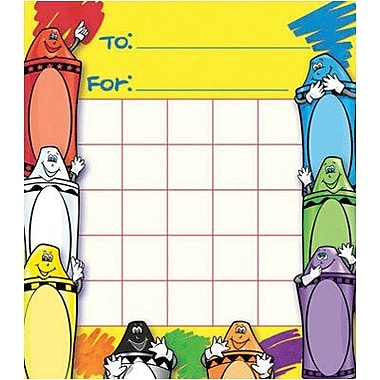 North Star Teacher Resources® Mini Incentive Chart, Crayons