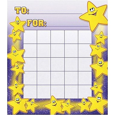 North Star Teacher Resources® Mini Incentive Chart, Smiley Stars