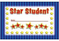 North Star Teacher Resources® Punch Card, Star Student