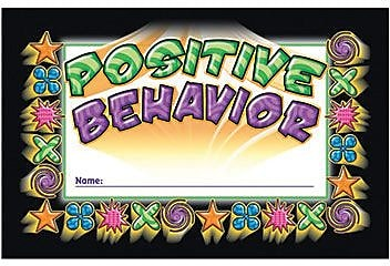Incentive Punch Cards, Positive Behavior