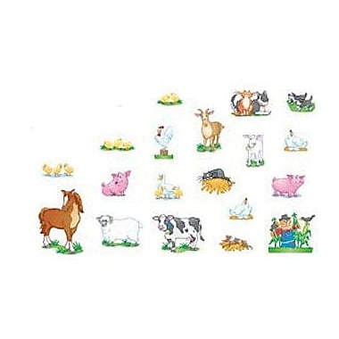 North Star Teacher Resources NST3203 DieCut Farm Animals Accents, Multicolor