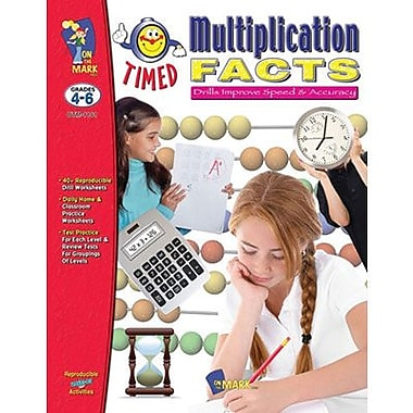 On The Mark Press® Timed Multiplication Facts Book, Grade 4 - 6 (OTM1141)