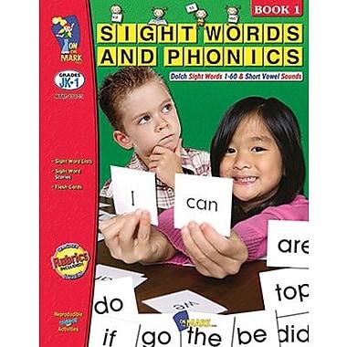 On The Mark Press® Sight words & Phonics Book 1st