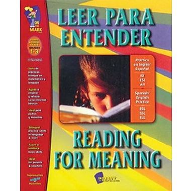 On The Mark Press® Leer Para Entender/Reading For Meaning Spanish/English Book, Grades 1st - 3rd