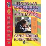 On The Mark Press® Uso De Las Mayusculas Y Reglas De/PUN & CAP Spanish/English Book, Grades 1st-3rd