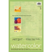 "Pacon® Art1st® Watercolor Paper, White, 18""(W) x 12""(H), 50 Sheets"