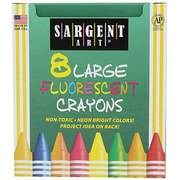Sargent Art® Assorted Large Fluorescent Crayons, 8/Box