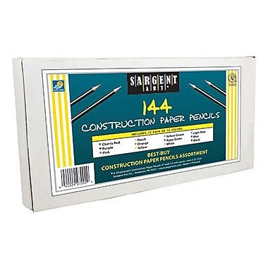 Sargent Art® Coloured Pencils For Construction Paper, 144/Pack