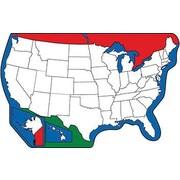 """Shapes Etc 5"""" x 7"""" U.S. Map Large Notepad"""