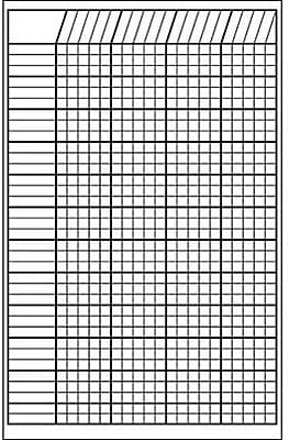 Shapes Etc Incentive Charts, White, Vertical, 14x22