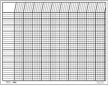 Shapes Etc Incentive Charts, White, Horizontal, 28x22