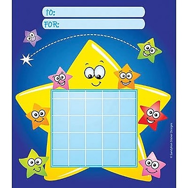 Silver Lead-Sandy Lion Incentive Chart Pads, Stars with Faces