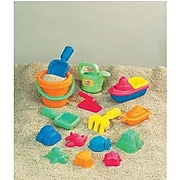 Small World Toys Assorted Plastic Beach Toys, Multicolor, 15/Set (SWT4830311)