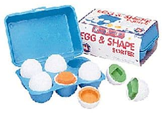 """""Small World Toys Egg and Shape Sorter Ball, 2 3/4""""""""(Dia)"""""" 934946"