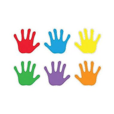Trend Enterprises Pre-kindergarten - 9th Grades Classic Accents, Handprints, 108/Pack (T-10930)