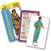 TREND Enterprises T-23022 Community Helpers Pocket Flash Cards, Grade 3 - 6