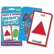 Trend Enterprises® Colors and Shapes Memory Match Cards, Grades pre-kindergarten - 4th