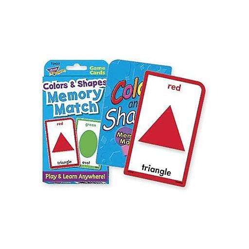Trend Enterprises® Colors and Shapes Memory Match Cards, Grades pre ...