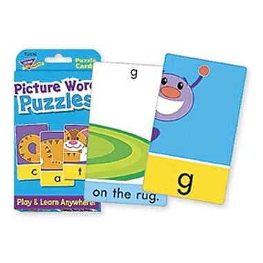 Trend Enterprises® Picture Word Puzzles Cards, Grades pre-kindergarten - 2nd