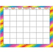 Trend Enterprises® Wipe-Off Monthly Calendar, Tie-Dye