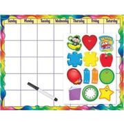 Trend Enterprises® Wipe-Off® Monthly Calendar (Cling Accents), Rainbow Gel