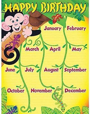 Trend Enterprises® Monkey and Geckos Birthday Learning Chart