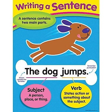 Trend Enterprises® Writing A Sentence Learning Chart
