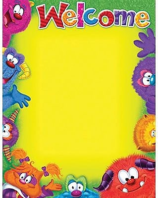 TREND Enterprises T-38431 Furry Friends Blank Welcome Learning Chart