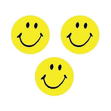 Trend Enterprises Superspots Stickers, Neon Yellow Smiles, 8000/Pack (T-46139)