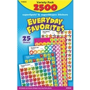 Trend Enterprises SuperSpots and SuperShapes Stickers, Every Day Favorites, 2500/Pack (T-46916)