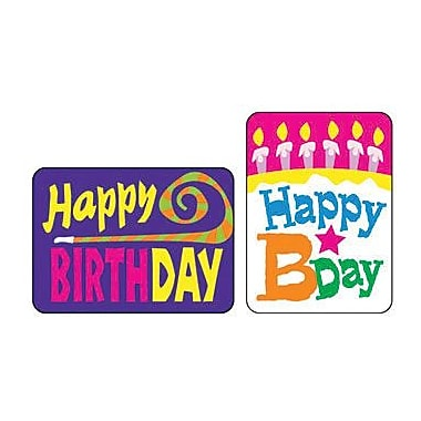 Trend Enterprises Applause Stickers, Happy Birthday, 1200/Pack (T-47159)