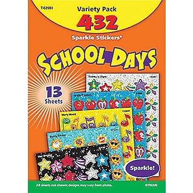 Trend Enterprises Sparkle Stickers, School Days, 864/Pack (T-63901)