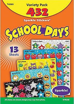 Trend Enterprises® Sparkle Stickers, School Days