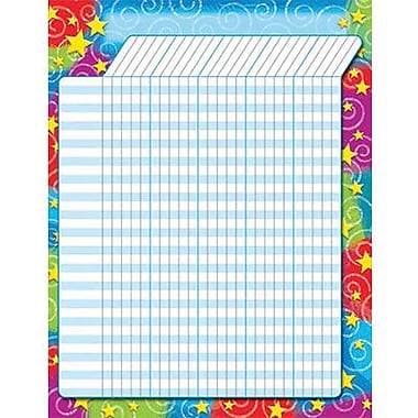 Trend Enterprises® Large Incentive Chart, Stars 'n Swirls