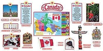 Trend Bulletin Board Set, Canadian Symbols