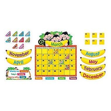 Trend Enterprises – Ensemble d'affiches pour babillard singes humoristiques, calendrier, 100/paquet (T-8340)