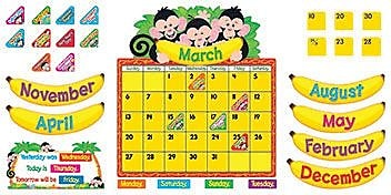 Trend® Bulletin Board Sets, Monkey Mischief™ Calendar