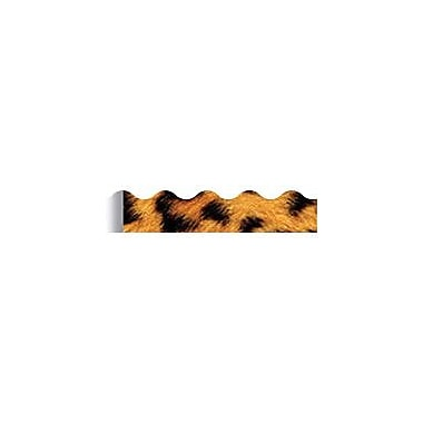 Trend Enterprises® Pre-Kindergarten - 9th Grades Scalloped Terrific Trimmer, Leopard Print